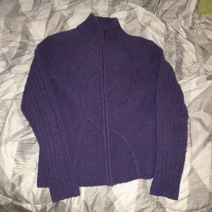 Purple Alexandra Bartlett Zip up Sweater size M